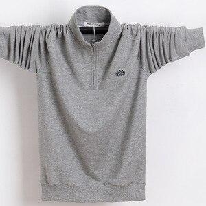 Image 2 - Koszula męska z długim rękawem Plus rozmiar 6XL 7XL 8XL moda męska Business Casual bawełniana koszula męska z długim rękawem Soild skręcić w dół kołnierz