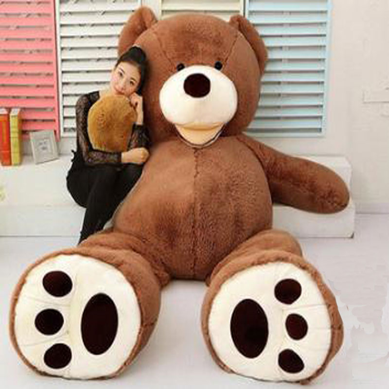 ФОТО 2017 New Arriving Huge Size 200cm USA Giant Bear Skin Teddy Bear Hull,Super Quality,Wholesale Price Selling Toy with Only Cover