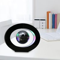 Magnetic Levitation Floating Globe with Colored LED Lights Anti Gravity Magnetic Levitation Rotating World Map Home Decoration