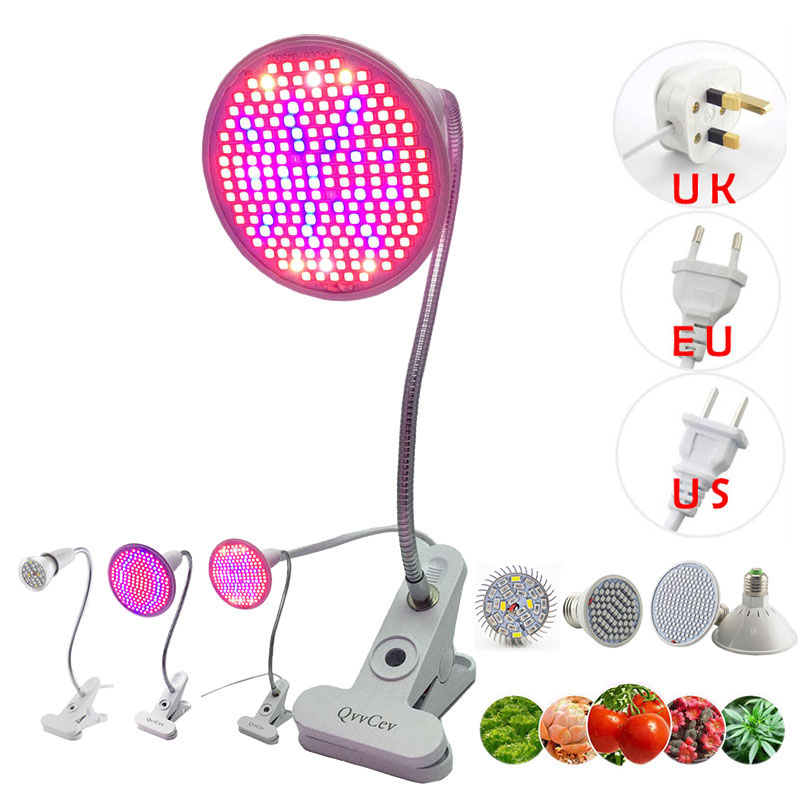 36 200 LED Plant Grow Light Full Spectrum Red Blue Growing Lamp bulb Clip For Indoor room tent Flower Seeds veg Greenhouse hydro