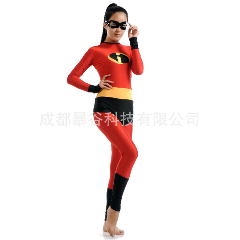 2018 Adult Woman The Incredibles Costumes Zentai Captain Avengers Super Heroes Cosplay Bodysuits Jumpsuits Performance Halloween