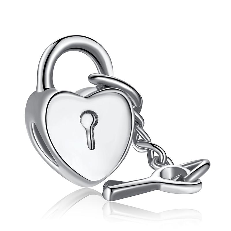 charm pandora cuore e chiave