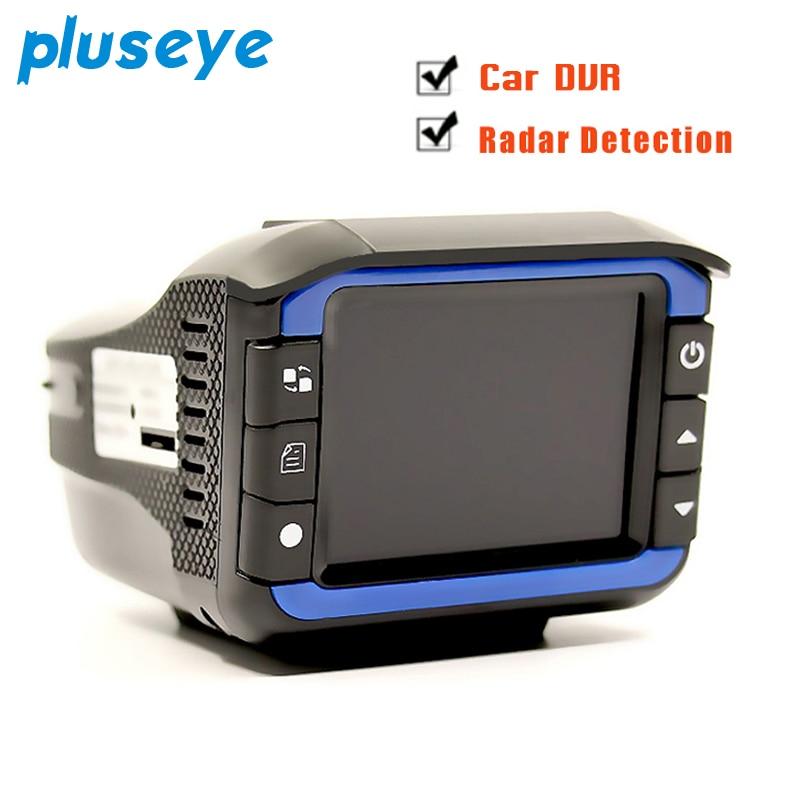 Pluseye 2 dans 1 Voiture DVR Anti Détecteur de Radar 720 p g-sensor enregistrement En Boucle dash cam livraison gratuite