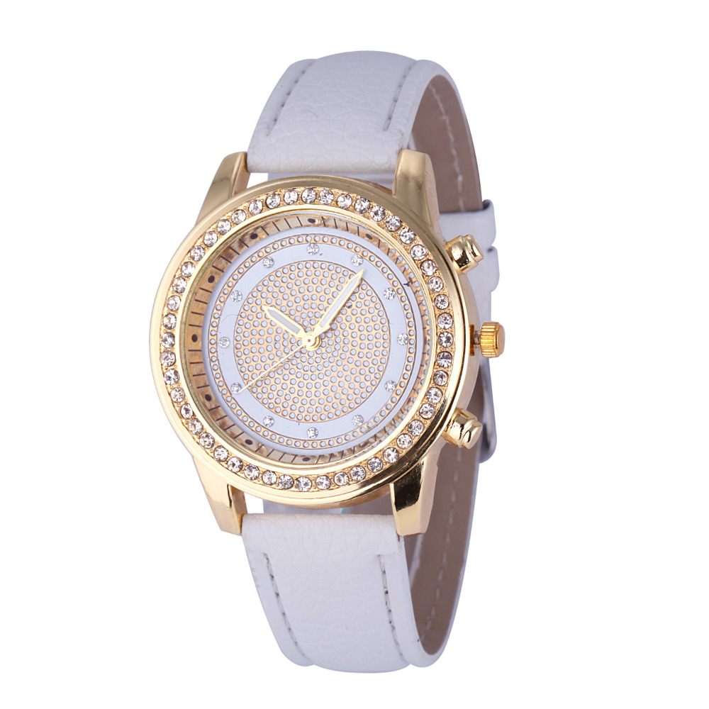 6d6b97747 Mulheres relógios Genebra Relógio montre femme Moda Couro Marca Analógico  Aço Inoxidável Quartz Relógio de Pulso Vestido relógios Feida