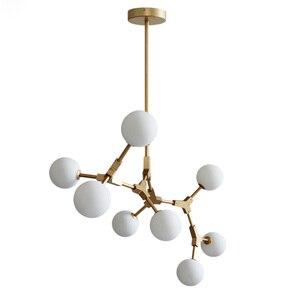 Image 1 - Nordic LED Chandeliers Glass Lighting Minimalist Molecular Chandeliers for Living Room Bedroom Bar Restaurant Lighting