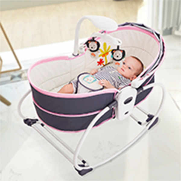 Baby Electric Baby Shaker Vibration Rocking Chair Smart Bed Bed Lounger Automatic Comforting Chair Basket Cradle