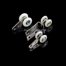 Brand New 60PCS Heavy Duty Window Curtain Rollers Pulleys Hanging Codes Wheels Smoothly & Mute Nylon Furniture Hardware