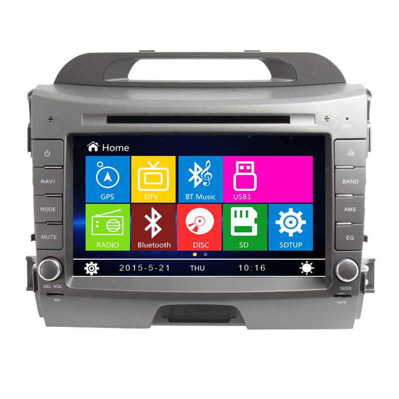 Multimedia System Capacitive HD Touch Screen Bluetooth RDS For Kla 2011 New Sportage Car DVD Radio