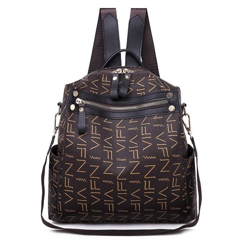 9f7a9517a Bolso de hombro 2019 mochila de moda para mujer de cuero suave de ocio de  gran capacidad mochilas escolares para mujeres adolescentes