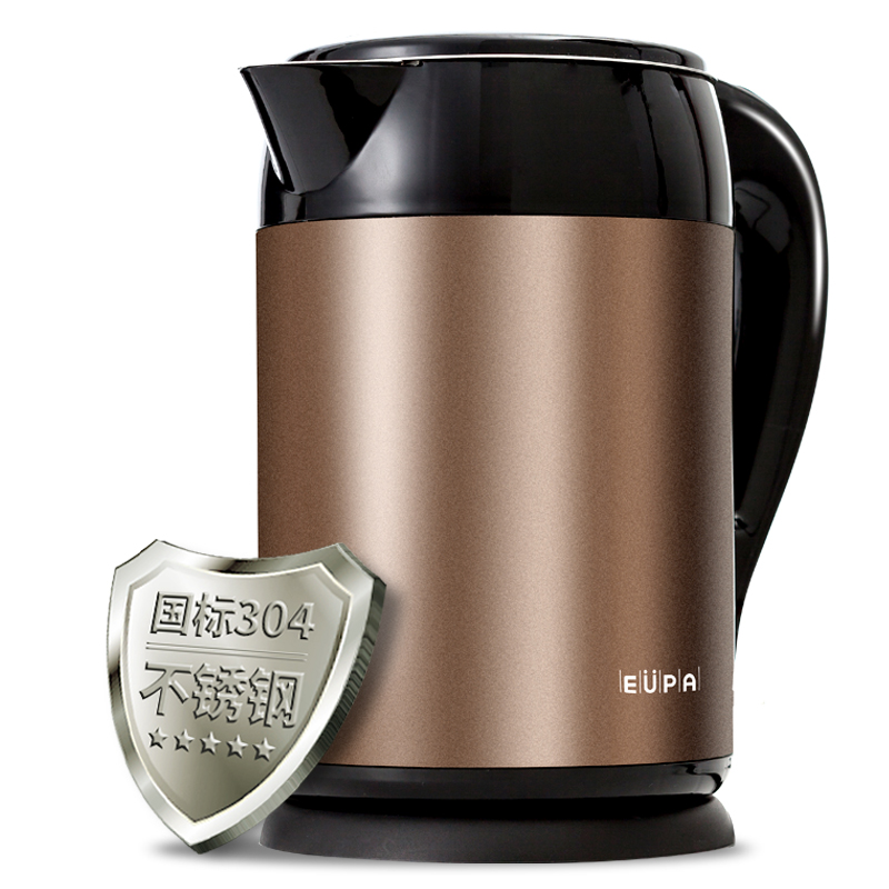 Eupa Household 1.5L Safety Auto-Off Function Electric Kettle 304 Stainless Steel Quick Heating KettlesTSK-3169C cukyi stainless steel 1800w electric kettle household 2l safety auto off function quick heating red gold