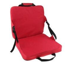 Удобное Складное Сиденье со спинкой и подушкой для рыбалки красное
