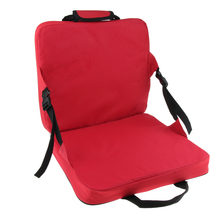 Comfortable Folding Bench Chair Seat Cushion with Backrest Fishing Cushion Seat for Outdoor Garden Patio Camping Hiking Red цены