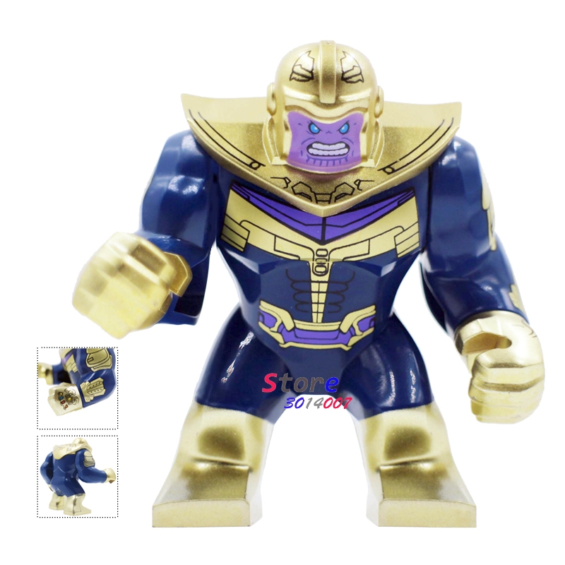 Single Marvel Avengers 3 Infinity War Thanos Infinity Gauntlet Captain America Iron Man figure building blocks toys for children single sale decool 0250 0255 captain america figure civil war building blocks marvel hero models toys