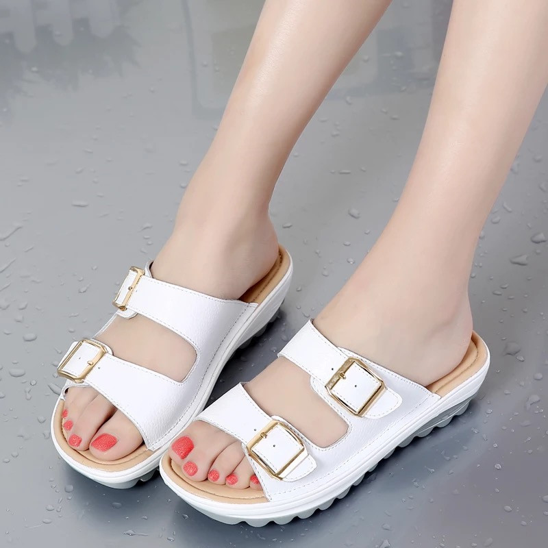 Sandals Casual Slippers Shoes Woman Comfortable Female New Wedges Outside Zapatos-De-Mujer