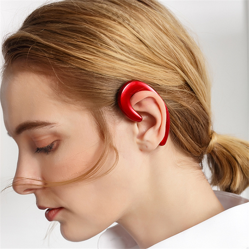Image 2 - New Ultralight Bone Conduction Bluetooth 4.1 Earphone Painless Wear Ear Pods Ports  Gaming Headset for Iphone Android Samsung-in Bluetooth Earphones & Headphones from Consumer Electronics