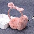 Теплая зима женский уха наушники милые кроличьи уши лук волос большой уха теплый мешок крышку.