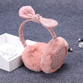 Warm winter female ear earmuffs cute rabbit ears bow hair large ear  warm bag cover.