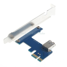 1 Port PCI-E 1X To 4 Slot 1X Switch Multiplier Expander HUB Expansion Riser Card
