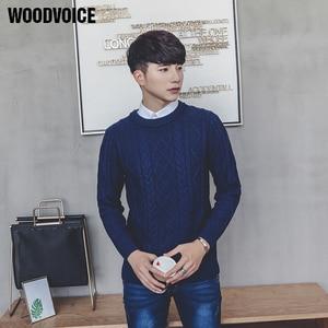 Marca Woodvoice, suéter de moda para hombre, Color sólido, marca de alta calidad, ropa de calle, Jersey, suéteres, Azul, Negro, Rojo, gran oferta