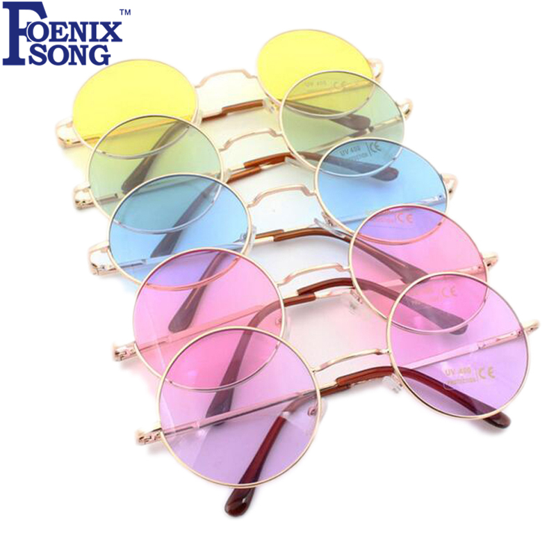 Sunglasses for Women New Brand Designer Men Sun Glasses Round Frame Oculos de sol Pink Mirror Eyeglass Lunette De Soleil Femme