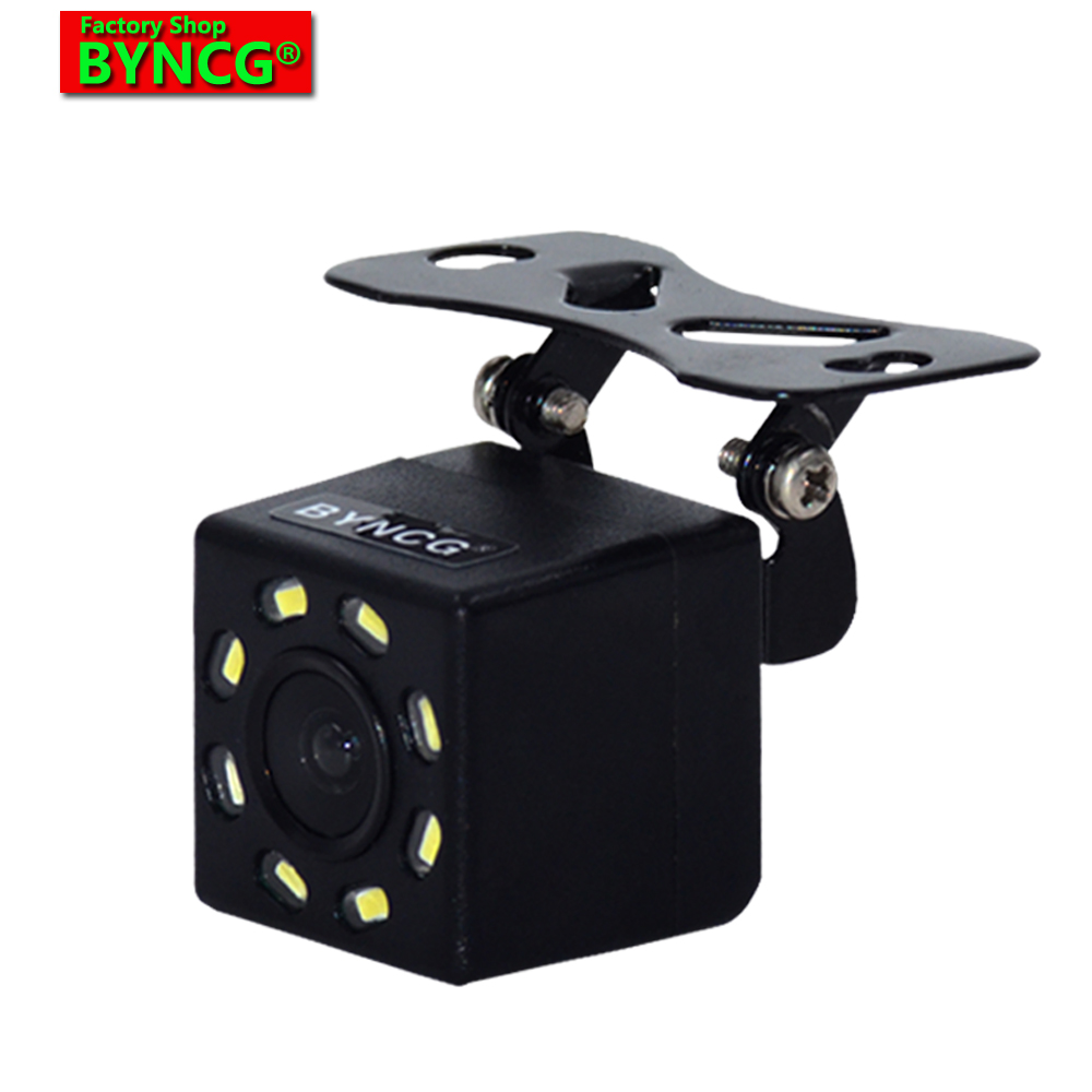 2019 Nova Câmera de Visão Traseira Do Carro Universal 8 LED de Backup Reversa Estacionamento Câmera Night Vision Impermeável Invertendo Cam Amplo Grau