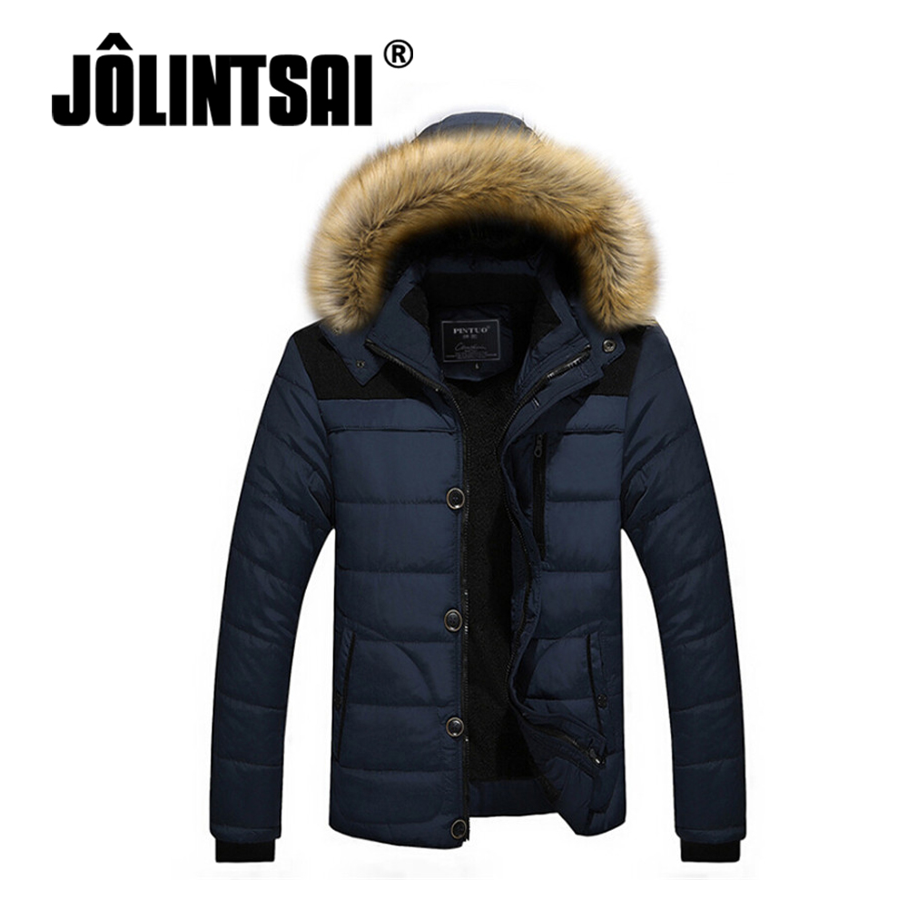 2017 Brand Clothing Men's Casual Parkas Loose Fit Hooded Jacket For Men Thicken Fleece Winter Jacket Men Padded Coat 4XL 5XL