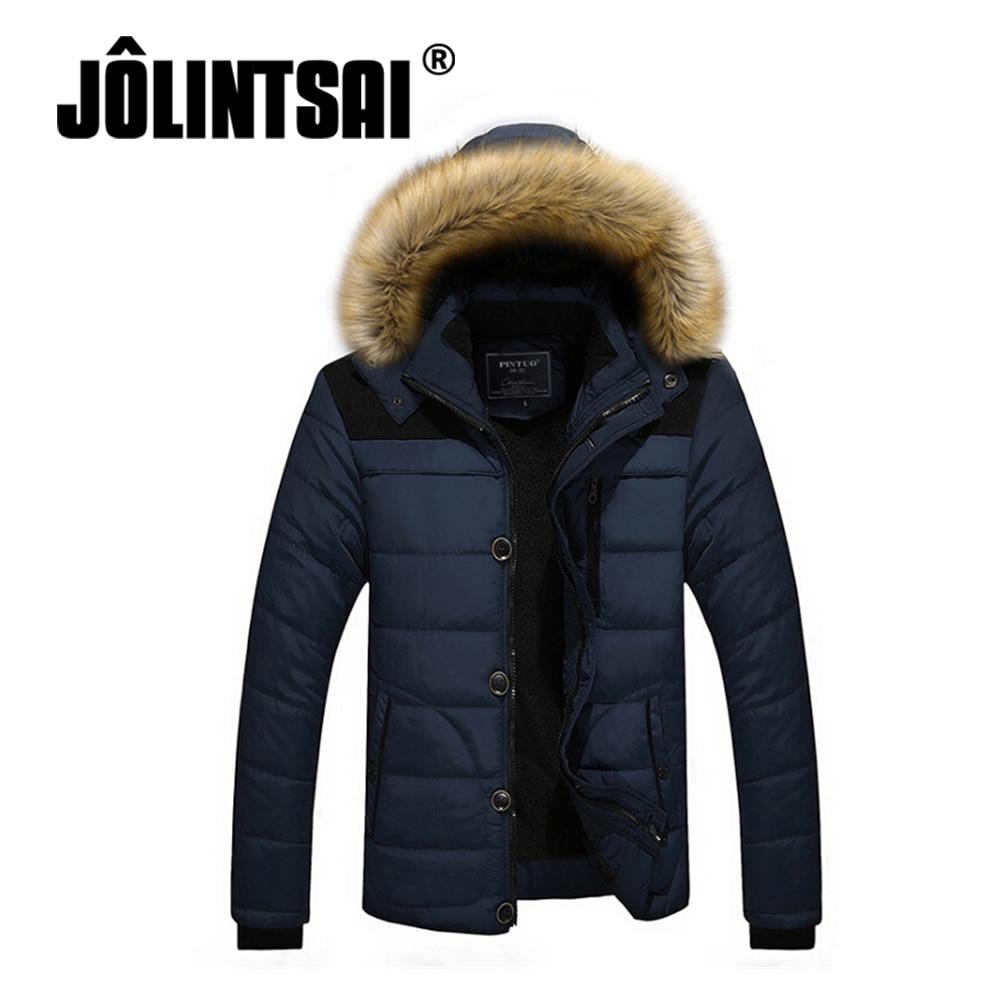 2017 Brand Clothing Men's Casual Parkas Loose Fit Hooded Jacket For Men Thicken Fleece Winter Jacket Men Padded Coat 4XL 5XL