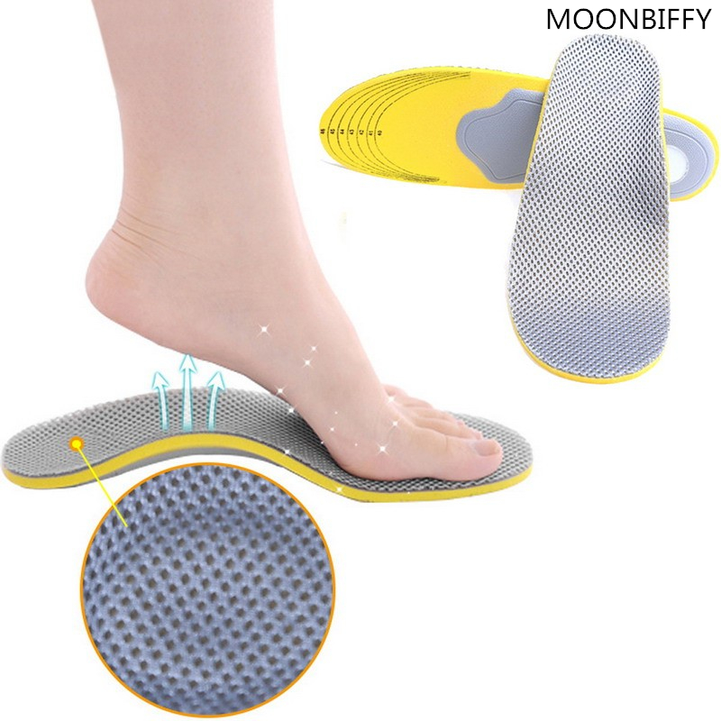 1 pair 3D premium women men comfortable shoes orthotic insoles inserts high arch support pad