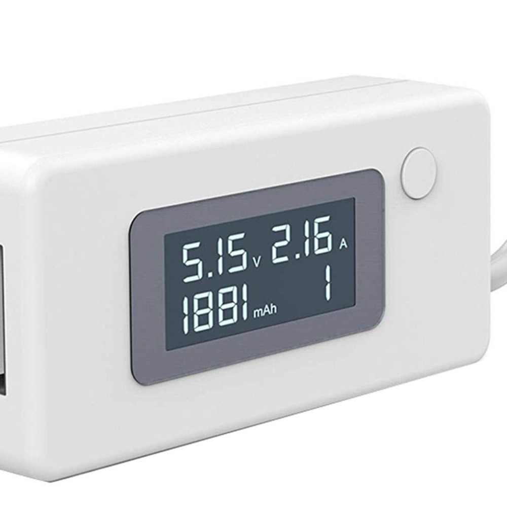 LCD مايكرو شاحن يو اس بي بطارية قدرة الجهد فاحص/ مختبر التيار الكهربائي USB تستر 3-7 فولت متر كاشف للهواتف الذكية موبايل باور بانك