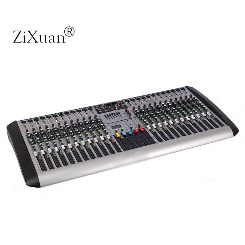 hx2402 new professional audio dj mixer 24 channels eq mixing console mezcladora de dj with dsp. Black Bedroom Furniture Sets. Home Design Ideas