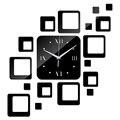 2015 sale new wall clock clocks home living room quartz acrylic modern  decoration watch 3d stickers diy mirror free shipping
