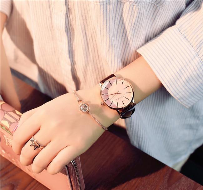 Polygonal dial design women watches luxury fashion dress quartz watch ulzzang popular brand white ladies leather wristwatch 15