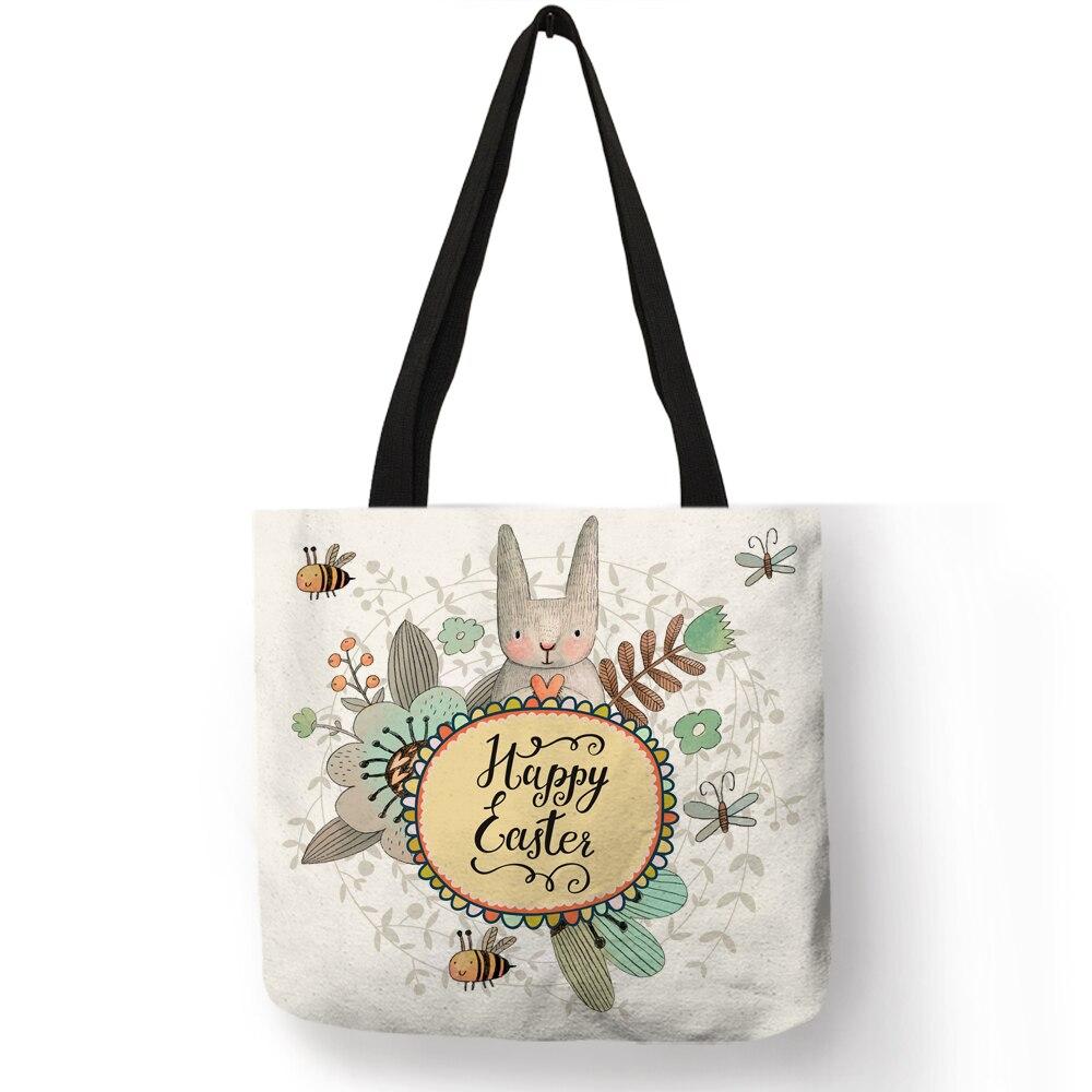 4d715b22a7d2 Модные Повседневное Сумки для Для женщин девушка милая крольчиха сумка с  принтом Эко многоразовые сумки для