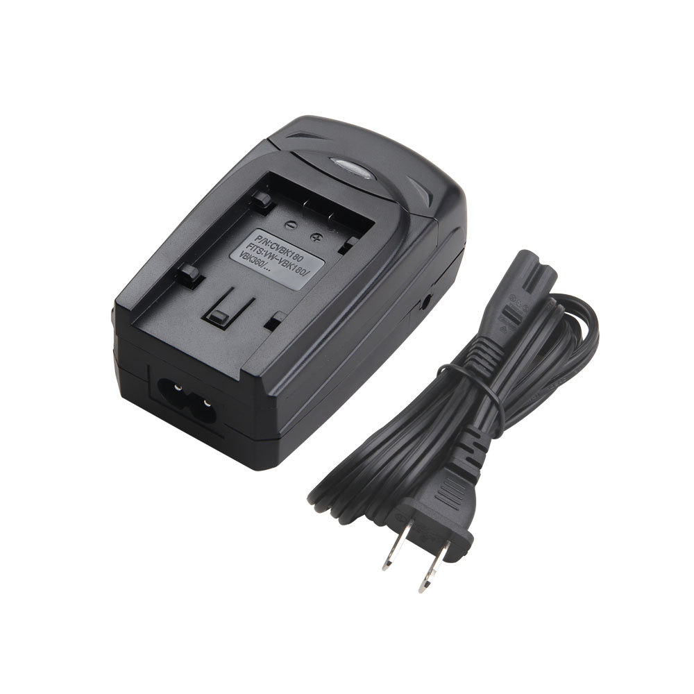 Lvsun Multi Function Digital Camera Camcorder Battery Car Charger With Usb Port Eu Plug Cord For Panasonic Vbk180 Vbk360