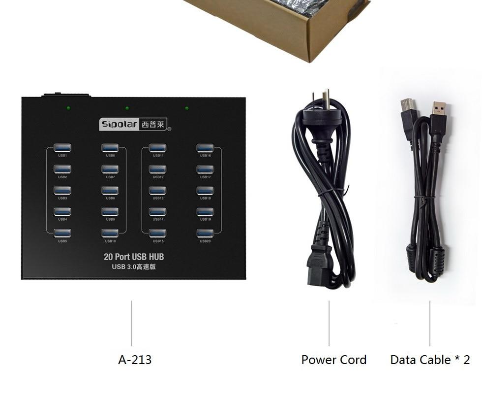 Sipolar A-213 Industrial USB hub switch,Desktop Data Transfer Refurbish Hub Built-in 5V 20A Power Adapter