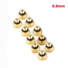 10×Brass Fog Mist Nozzle Misting Fogging Spray Sprinkler Head Water Connector
