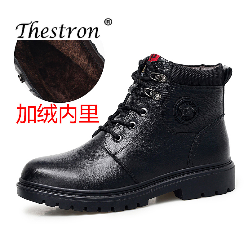 Thestron Sneakers Mens Shoes Genuine Leather Footwear Male Fur Warm 2018 Winter Casual High Top Hot Sale Lace Up