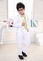 2016 New Fashion 2 12 Years Boy Tuxedo Piano Performance Costume Flower Girl Formal Dress Boy