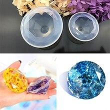 Molde de silicone criativo para bolo, ferramentas de decoração de bolo, forma de diamante, molde de silicone cristal, artesanal, amor, joia, ferramentas