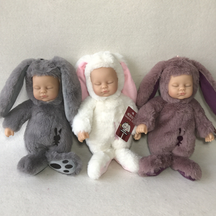 2017 New style 25cm Mini Bonnie Rabbit Plush Toys Soft Simulation Dolls Lovely Sleeping Plush Doll for Baby Girls Birthday Gifts hot sale 12cm foreign chavo genuine peluche plush toys character mini humanoid dolls