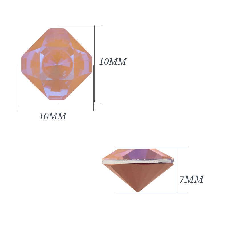 Необычные камни ювелирные изделия восьмиугольник Швейные аксессуары K9 стеклянные стразы diy Кристалл точка назад для одежды декоративная брошь изготовление