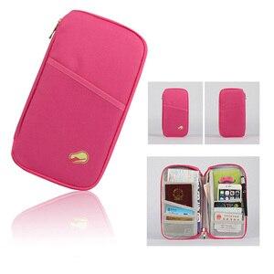 Image 2 - 多機能トラベルパスポートパッケージクレジット Id カード現金財布多色収納バッグ財布文書ジッパー