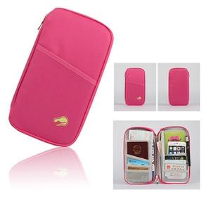 Image 2 - Multi Functional Travel Passport Package Credit ID Card Cash Wallet Multicolor Holder Case Storage Bag Purse Documents Zipper