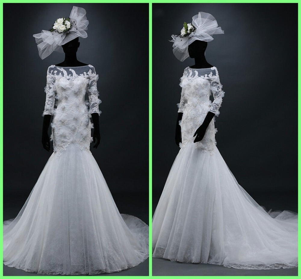 Popular winter weddings pictures buy cheap winter weddings for Winter mermaid wedding dresses