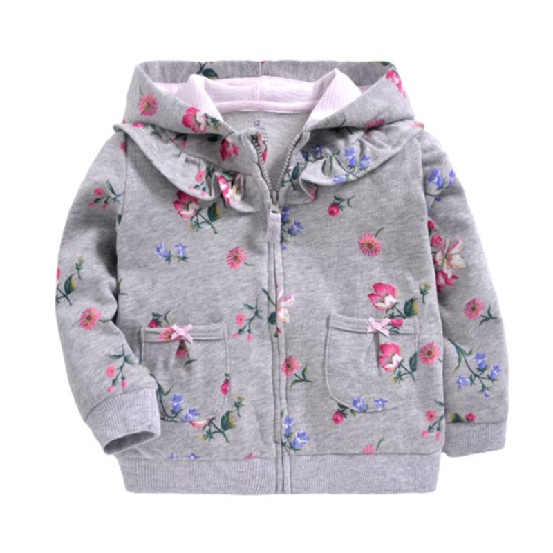 2019 baby boys girls hooded sweatshirts cotton cartoon tops truck flower whale out wear kids clothes for 9m-3years 3