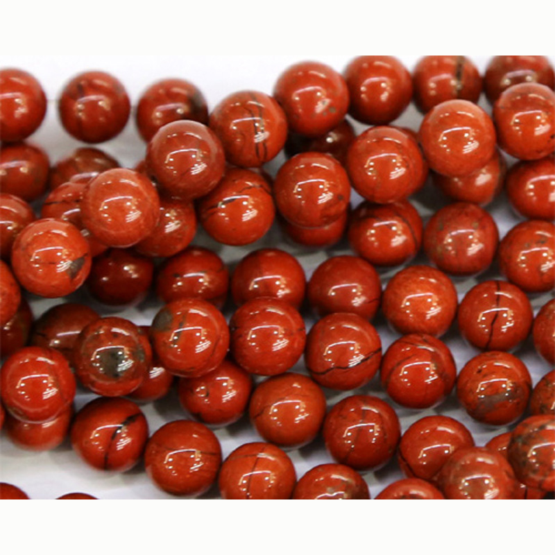 "Discount Wholesale Natural Genuine Red Jasper Round Loose Stone Beads 3-18mm Fit Jewelry DIY Necklaces or Bracelets 15"" 03480"