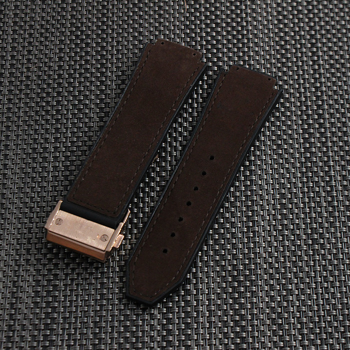 26mmx19mm 22mm buckle Black Leather Rubber Watchbands Watch Strap watchband for Hublot Bracelet Band Sweatband