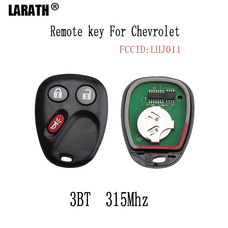 LARATH 3Buttons Remote Key Fob For Hummer H2 Chevrolet Avalanche Cadillac Escalade 2003 2004 2005 2006 LHJ011 Original keys