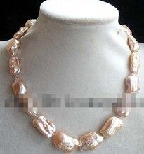 "11.24 perlas de agua dulce rosa renacido keshi biwa collar de 17 "" naturaleza barroco naturaleza ( A0325 )"