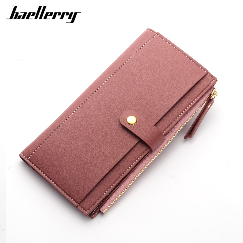 Baellerry Women Wallets High Quality PU Leather Wallet Female Purse Women Clutch Wallets Card Holder Coin Purse Zipper Handy Bag baellerry double zipper women business card holder wallet oil wax leather purse female name bank credit cards driver license bag